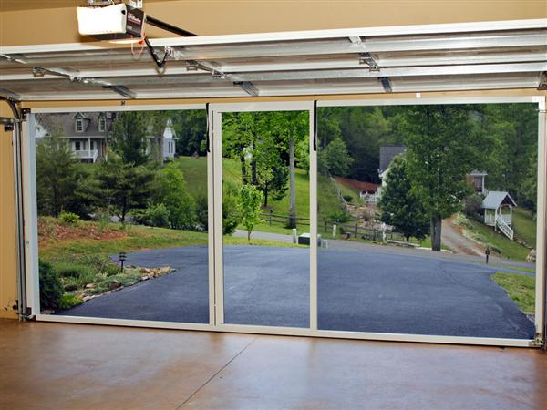 Garage door screens ozarks garage doors for Roll up screen door for garage