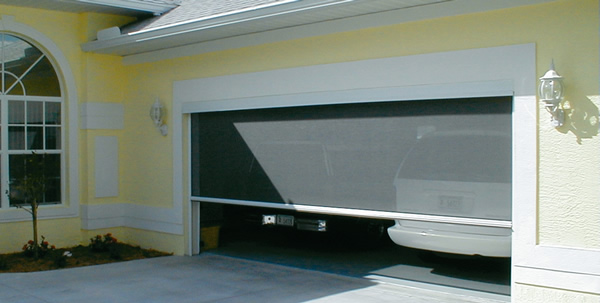 Motorized garage door screens ozarks garage doors for Garage screen door rollers