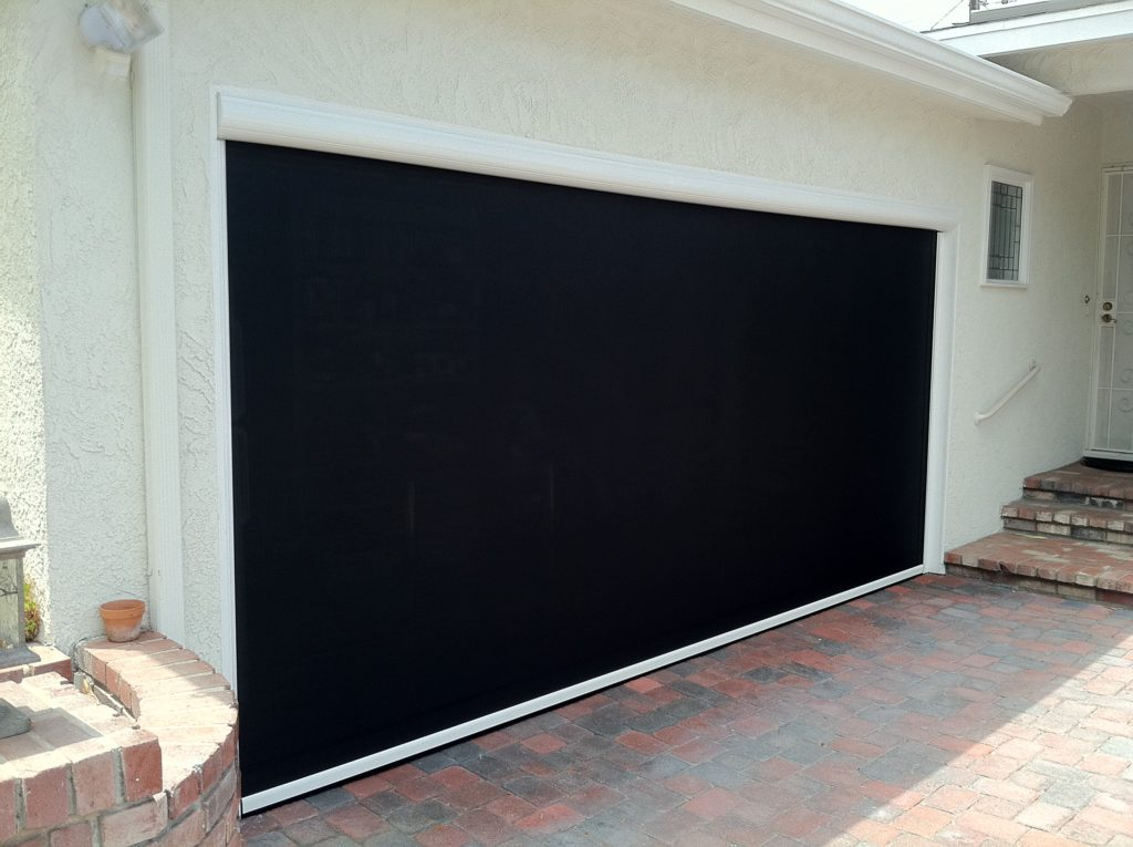 Motorized garage door screens ozarks garage doors for Motorized garage door screens